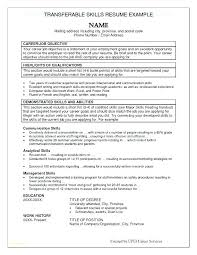 Resume Objective Section Sample Additional Skills Resume Examples Best Resume Sample Com Skills With ...