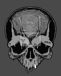 Fototapeta Dekorativní Lidská Lebka šablona Návrhu Tetování Tisku Obálky