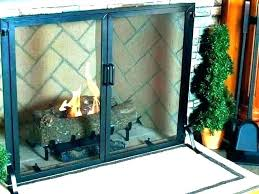 fireplace screens glass fold screen with doors large extra