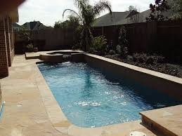 pool with raised spa for small yards pools swimming pools houston