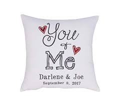 yugtex pillowcases embroidered you and me cushion er anniversary gift personalized gift wedding gift enement gift gift for pas