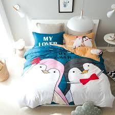 queen size bedding sets cotton penguin duvet cover set twin queen size bedding set for