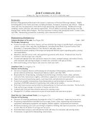 Resume For Food Service Free Resume Example And Writing Download