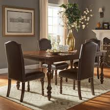 homesullivan piece brown extendable dining set room sets round table and chairs small black with leaf compact contemporary extension expandable for console