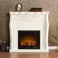 image of ashley white electric fireplace