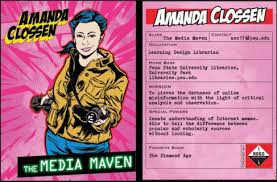Trading Card Design Penn State Librarians Create Their Own Superhero Trading Cards