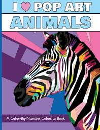 Small Picture Amazoncom I Heart Pop Art Animals A Color By Number Coloring