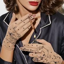 Gloveme дизайнерские тату перчатки с вышивкой