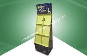 Cardboard Book Display Stands Free Standing Display Unit Cardboard Floor Display Racks Recyclable 47