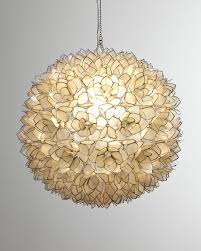 lotus pendant light seashell chandelier capiz chandelier
