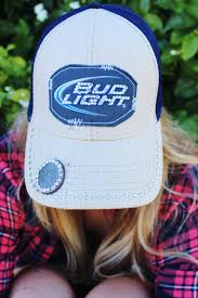 Bud Light Sun Visor Rhinestone Bud Light Trucker Baseball Hat With Rhinestoned