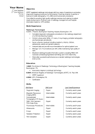 Endearing Medical Technologist Resume Template For Your Sample
