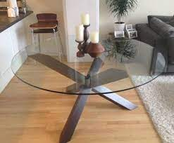 round dinner table glass top dining