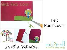 how to make a sched felt book cover by heather valentine