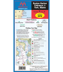 Maptech Wpc007 Boston Harbor Entrance To York Me Waterproof Chart 5th Edition 2014