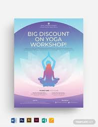 Yoga Flyer Template Yoga Workshop Flyer Template Download