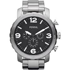 """men s fossil nate chronograph watch jr1353 watch shop comâ""""¢ mens fossil nate chronograph watch jr1353"""