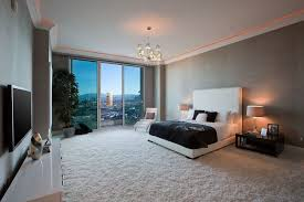 tray lighting. modern guest bedroom with textured wall finish upholstered panel low profile bed tray ceiling lighting n