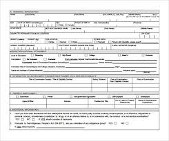 Application Forms Sample Sample Civil Service Exam Application Form 8 Download Free