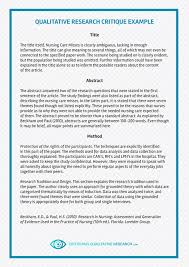 How To Critique An Essay Pin By Critique Samples On Qualitative Research Critique
