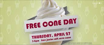 free carvel ice cream cone day 2017