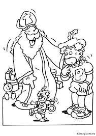Sinterklaas En Zwarte Piet Kleurplaten Kleurplateneu