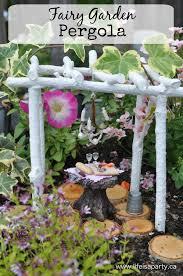 diy fairy garden pergola