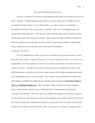 statement of informed beliefs essay  2 sib 2 statement of informed beliefs essay diversity