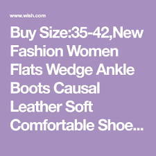 Wish Shoe Size Chart Size 35 42 New Fashion Women Flats Wedge Ankle Boots Causal