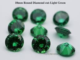 Cubic Zirconia Emerald Green Colored Loose Cz Green Stones