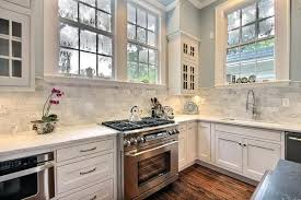 transitional kitchen ideas. White Kitchen Backsplash Ideas Transitional With Marble Stone Gallery
