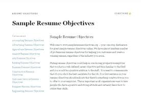Best Job Objectives For Resume Best Of Objectives Of Resume Format Objective Good Format Objective Resume