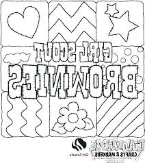 Brownie Girl Scout Coloring Pages Special Offer Brownie Girl Scout