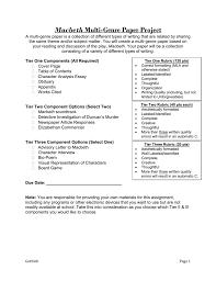 macbeth multi genre paper project