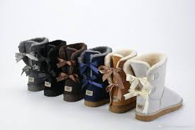 ugg snow winter leather women australia classic kneel half long boots ankle black grey chestnut navy blue red womens girl shoes 36 41 shoes combat