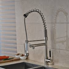 2018 modern nickel brushed tall kitchen faucet dual spouts vessel sink mixer tap new from wuzhongtin 231 56 dhgate com
