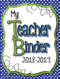 Teacher Binder Templates Teacher Binder 2018 2019 Calendars Weekly Planner Forms And