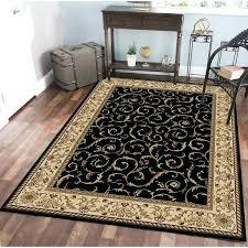 black persian rug admire home living scroll black oriental area rug round black oriental rug