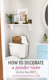 Girly Bathroom Ideas Inspiration How To Decorate A Powder Room For Less Than 48 Just A Girl And