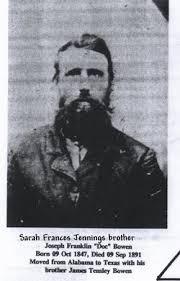 """Joseph Franklin """"Doc"""" Bowen (1847-1891) - Find A Grave Memorial"""