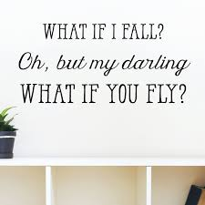 Wall Quotes Classy Belvedere Designs LLC What If I Fall Wall Quotes™ Decal Reviews