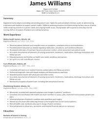 Registered Nurse Resume Examples Samplemat Entry Level