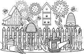 Small Picture Garden Scene Coloring Page Greatest Book Bebo Pandco