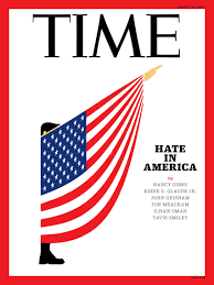 economist cover magazines reflect on rise of race hate in america with illustrated