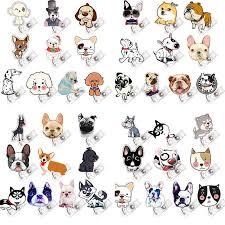 2018 <b>Cute</b> Dog Acrylic Material <b>Nurse Cute Retractable Badge</b> Reel ...
