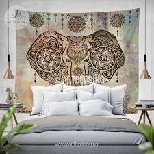 boho elephant tapestry ganesh elephant wall hanging in shabby chic tapestry wall decor bohemian wall tapestries artbedding wall art ideal elephant wall
