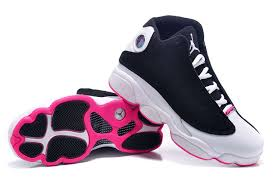 jordan shoes for girls black and pink. womens black pink white air jordan 13 shoes for girls and