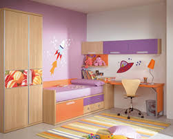 Exciting Image Of Kid Bedroom Decoration For Your Children : Amazing Purple  Orange Kid Bedroom Decoration