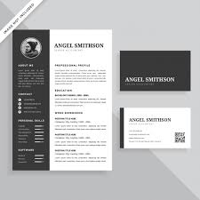 Simple Professional Resume Cv And Business Card Template Design Set