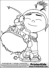 Small Picture Despicable Me Agnes WE HAVE A DOG Coloring Page Coloring page